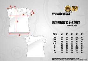 Women's T-shirt - sizes